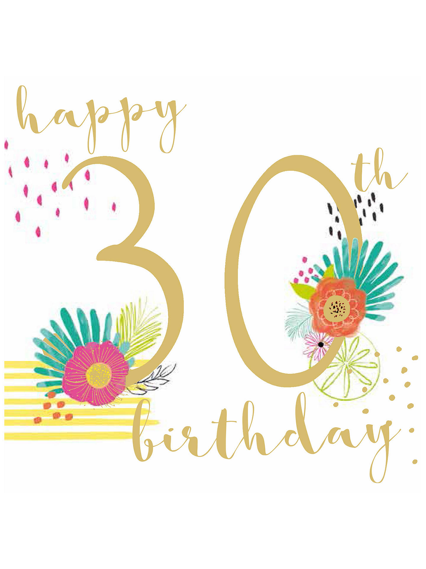 Buy Bellybutton Bubble 30th Birthday Card Online At Johnlewis