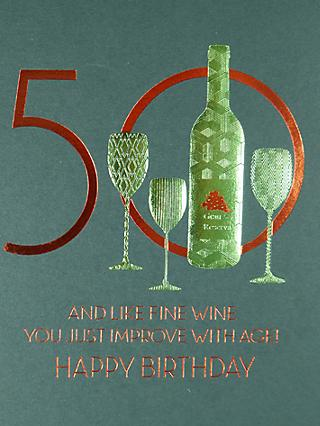 Five Dollar Shake 50 Improve With Age Birthday Card
