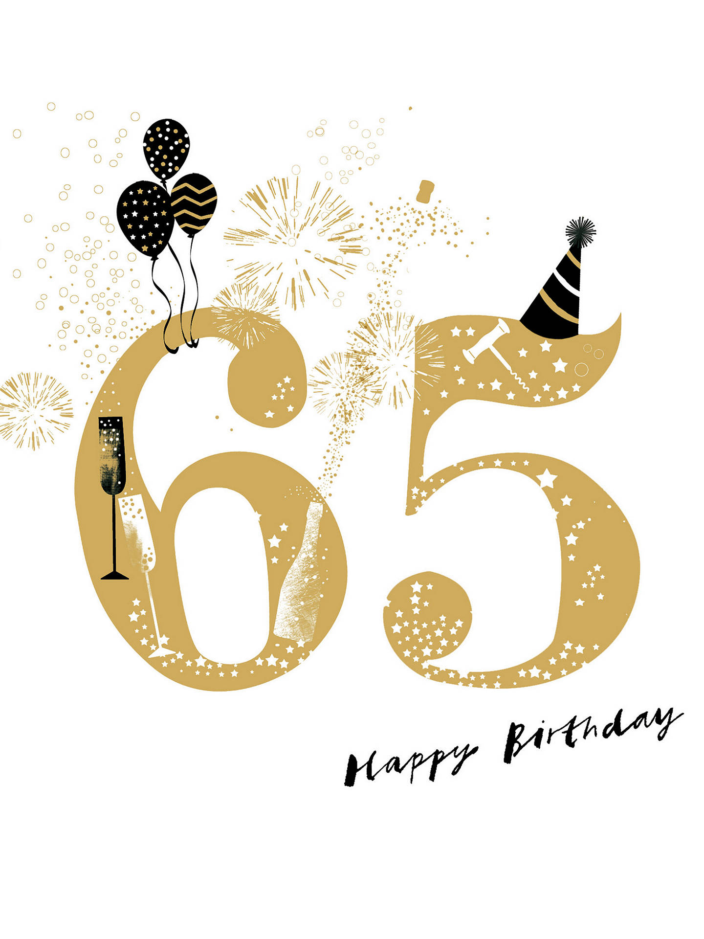Buy Woodmansterne 65th Birthday Card Online At Johnlewis