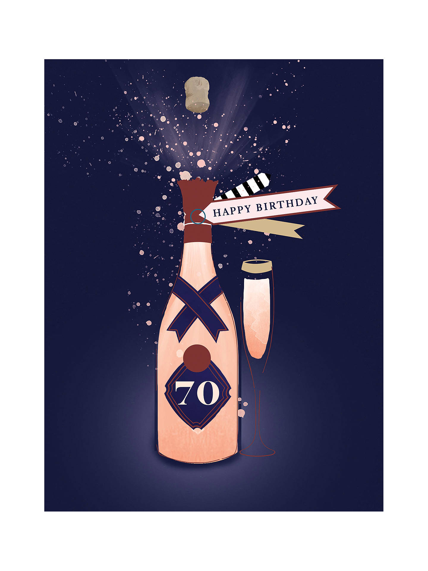 Buy UK Greetings Champagne 70th Birthday Card Online At Johnlewis