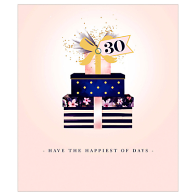 Image of UK Greetings Presents 30th Birthday Card