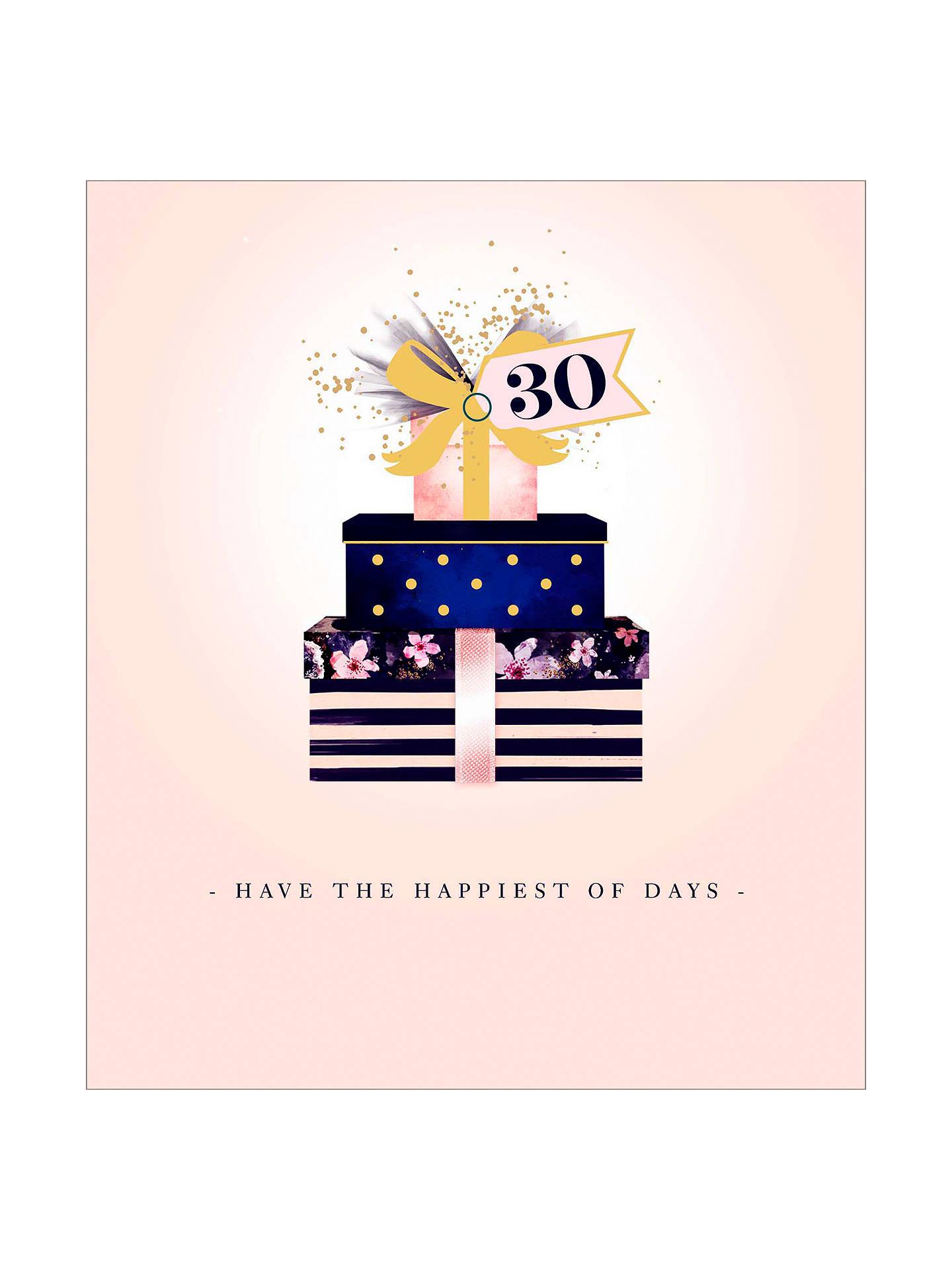BuyUK Greetings Presents 30th Birthday Card Online At Johnlewis