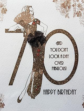 Five Dollar Shake 70 and You Don't Look A Day Over Fabulous Birthday Card