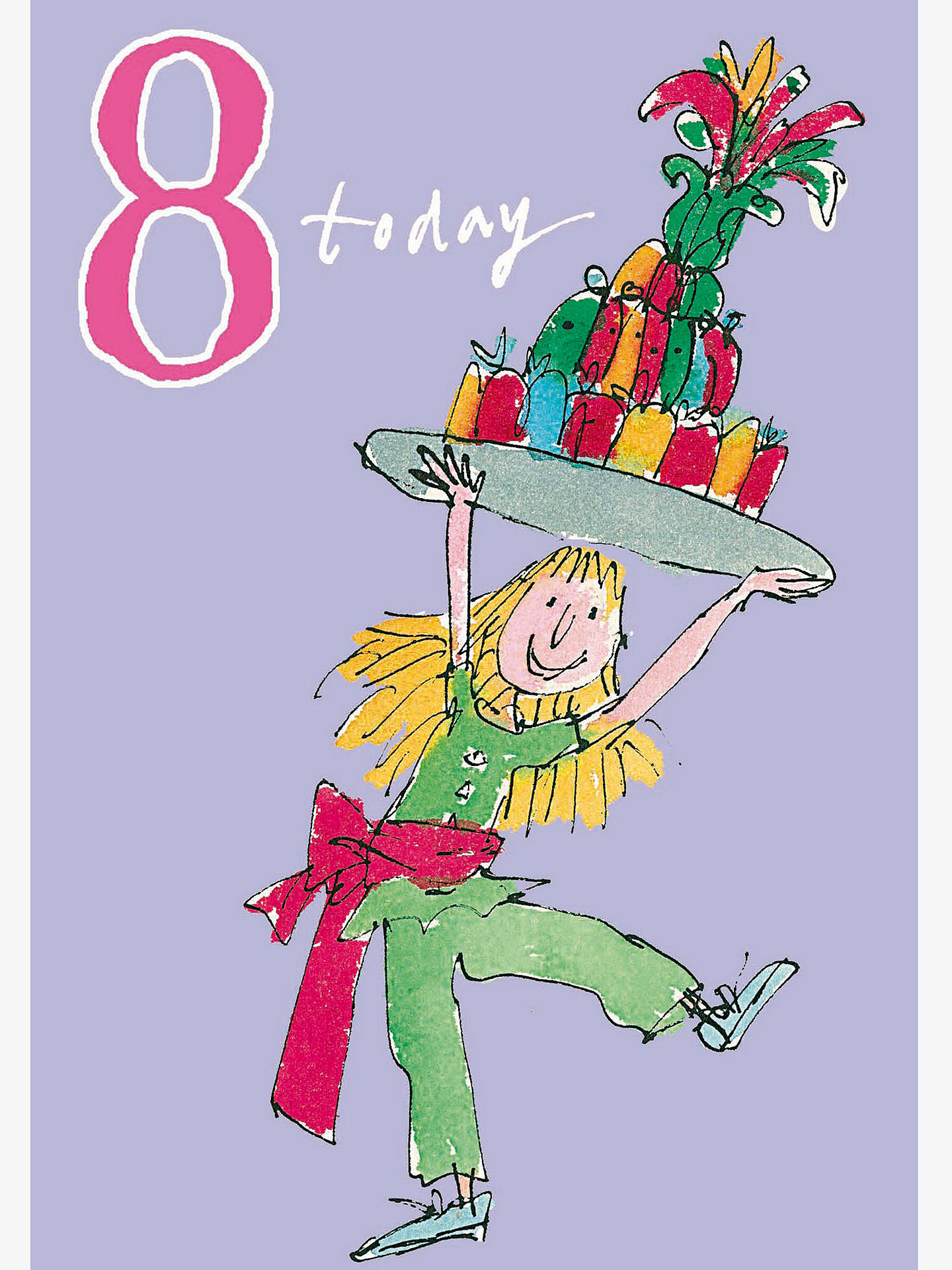 Buy Woodmansterne Jelly Cake 8th Birthday Card Online At Johnlewis