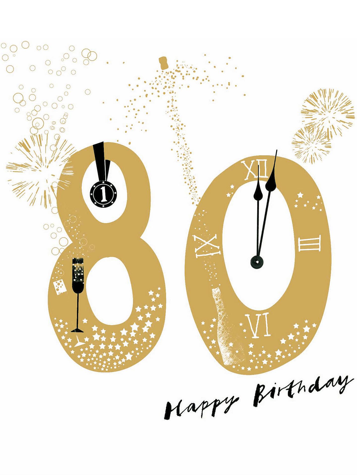 Woodmansterne Joyful 80th Birthday Card At John Lewis Partners