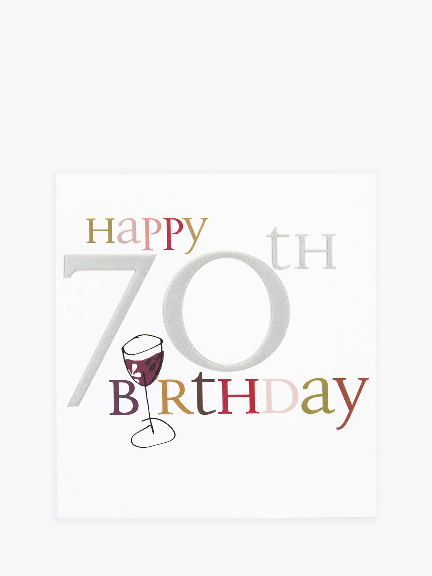 BuyCaroline Gardner Wine 70th Birthday Card Online At Johnlewis