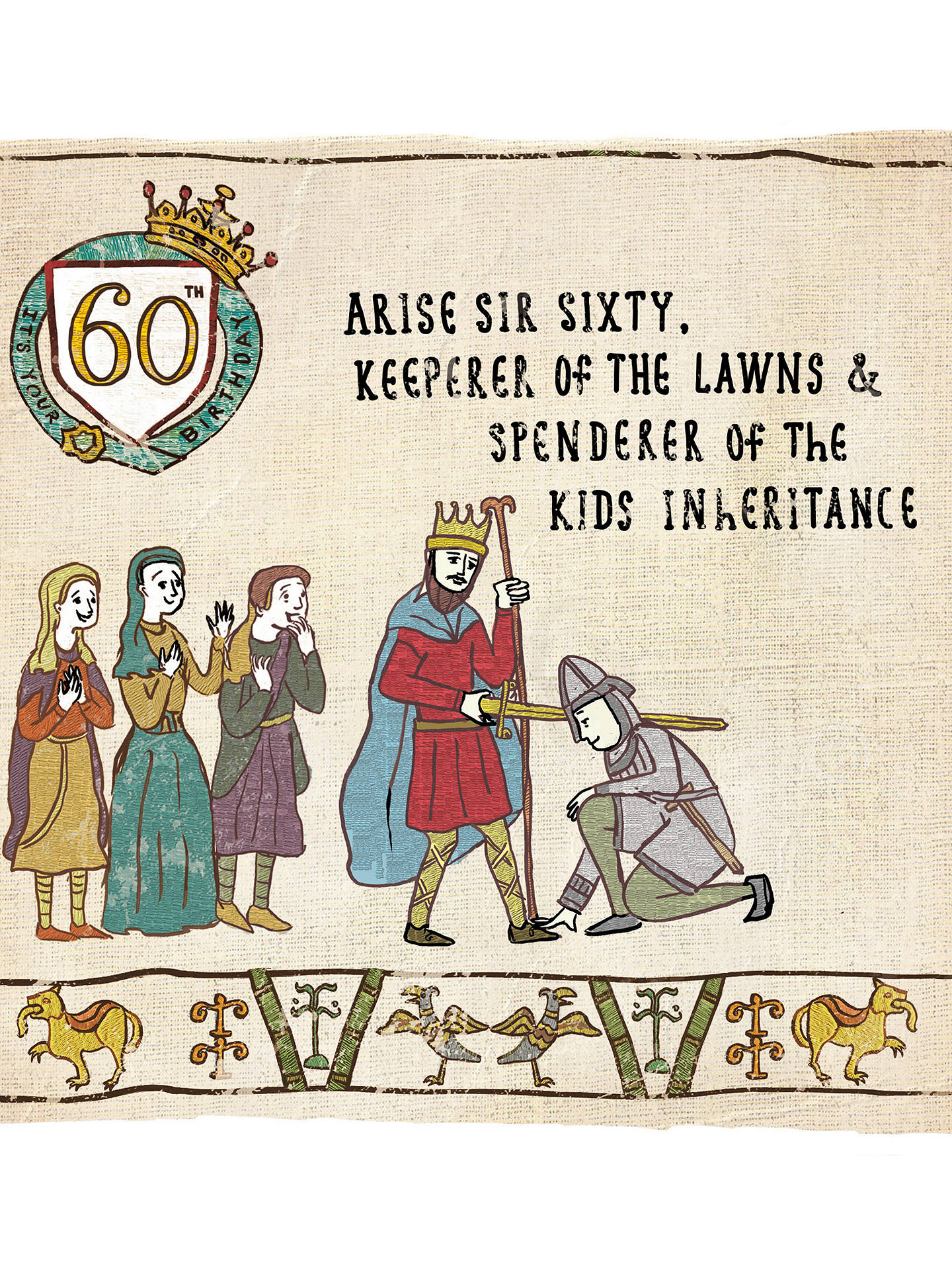 Buy Woodmansterne Inheritance 60th Birthday Card Online At Johnlewis