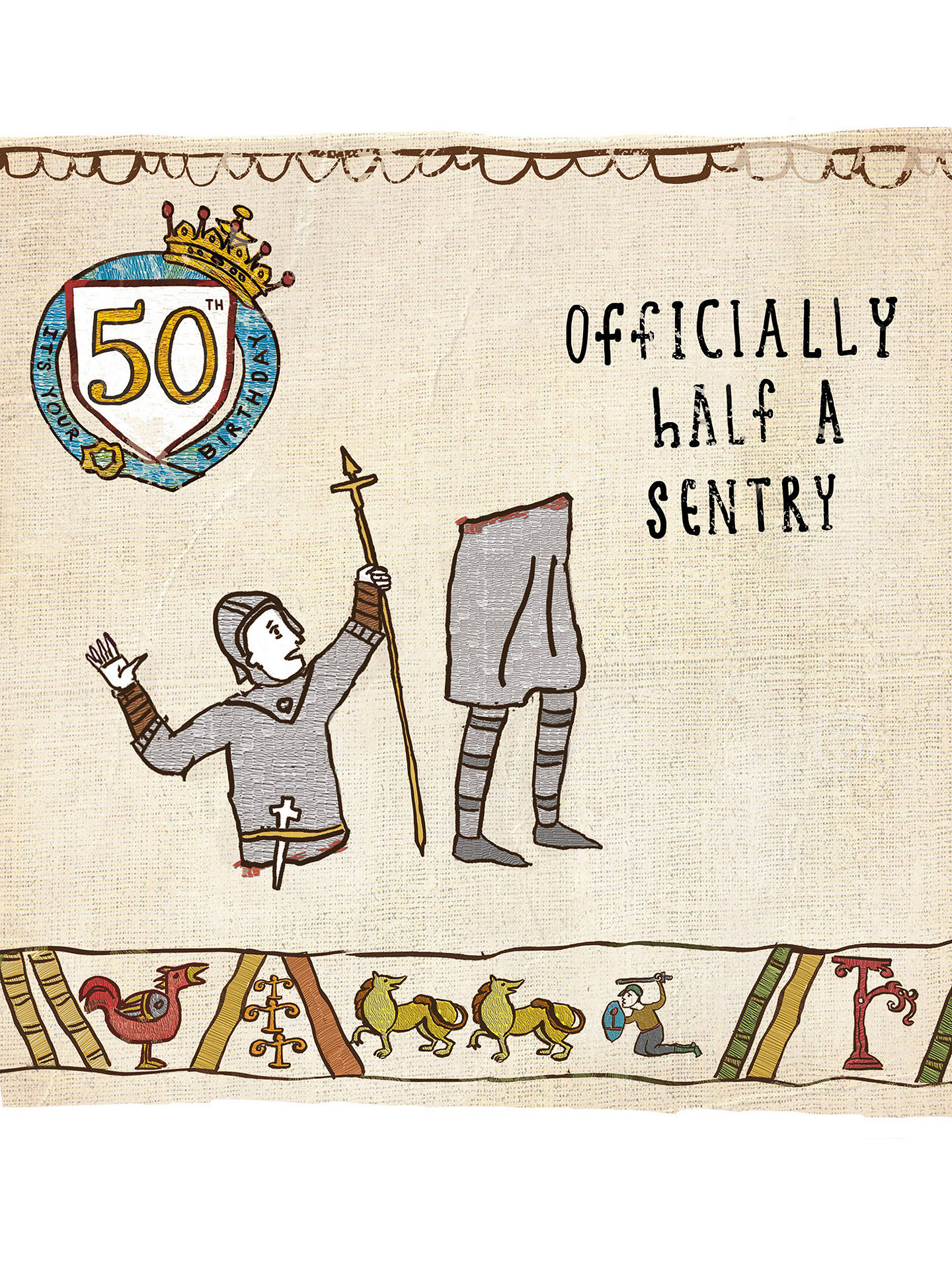 BuyWoodmansterne Sentry 50th Birthday Card Online At Johnlewis
