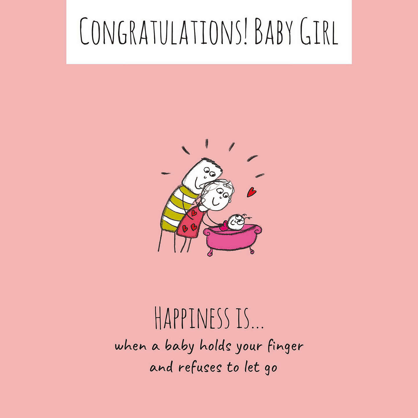 BuyCardmix Holding New Baby Girl Card Online at johnlewis.com