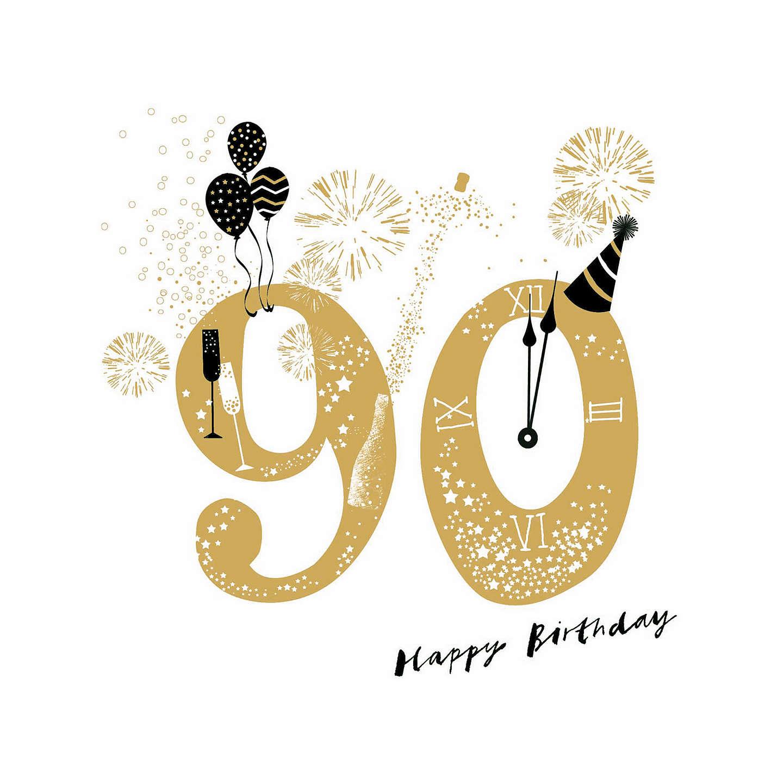 Woodmansterne Jubilant 90th Birthday Card At John Lewis