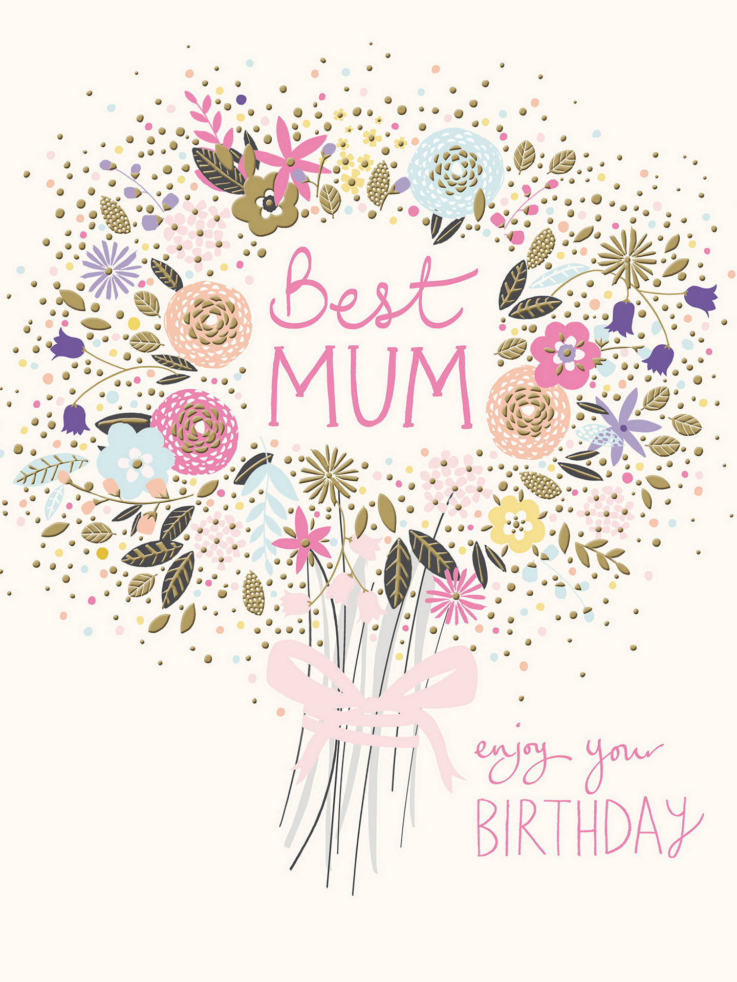 BuyWoodmansterne Best Mum Birthday Card Online At Johnlewis