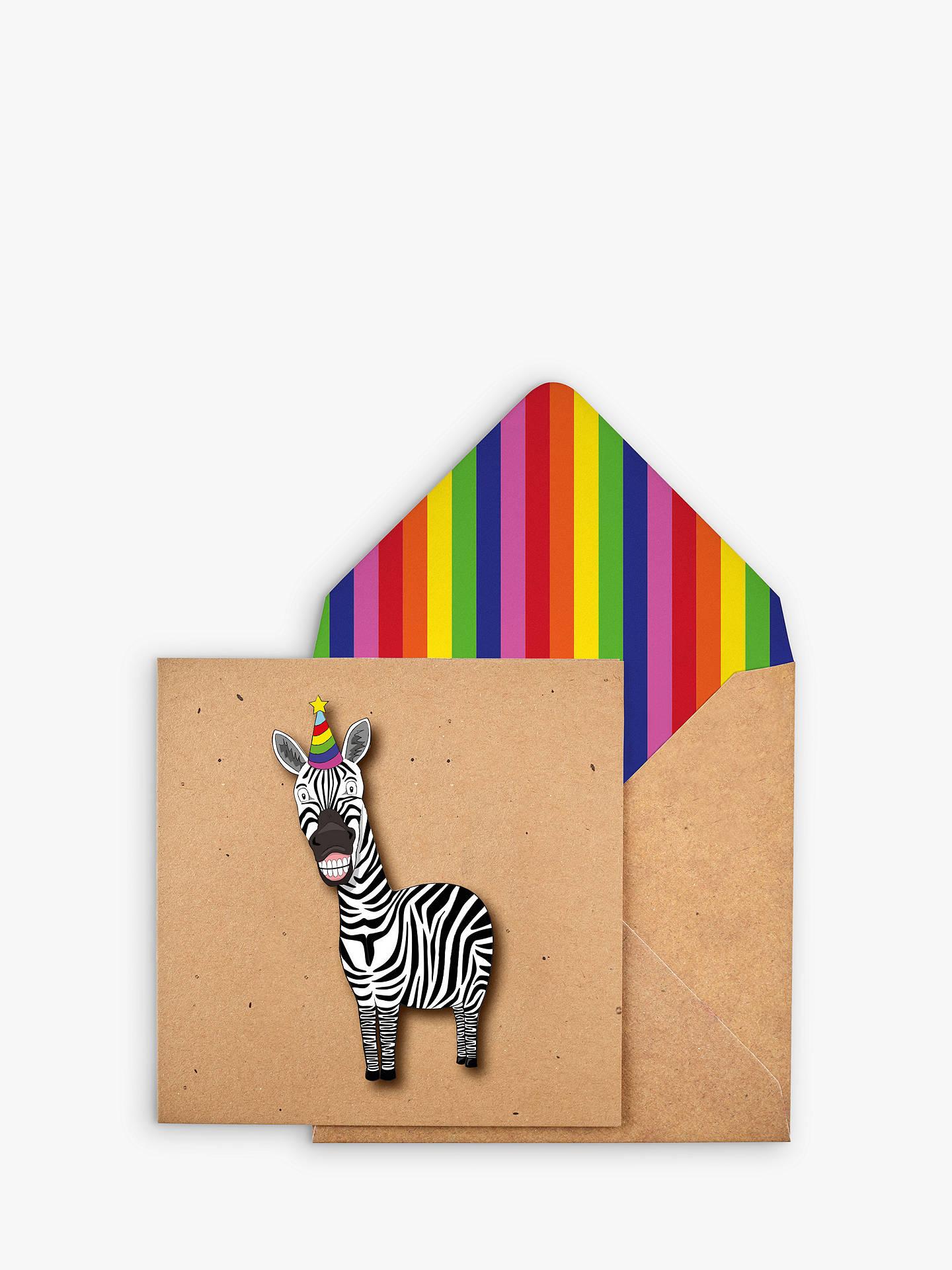 Tache Crafts Zebra Birthday Card At John Lewis Partners