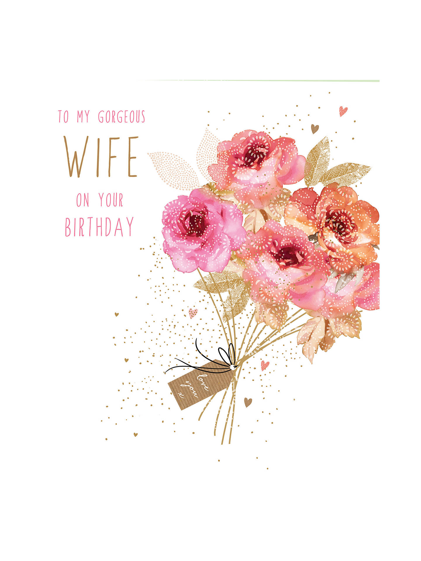 Portfolio bouquet for my wife birthday card at john lewis partners buyportfolio bouquet for my wife birthday card online at johnlewis izmirmasajfo