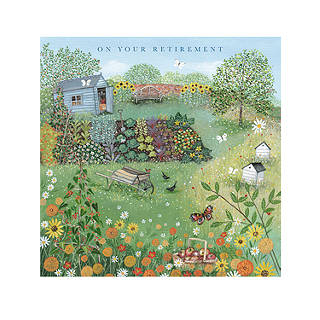 Retirement greetings cards john lewis woodmansterne dream garden retirement card m4hsunfo Image collections