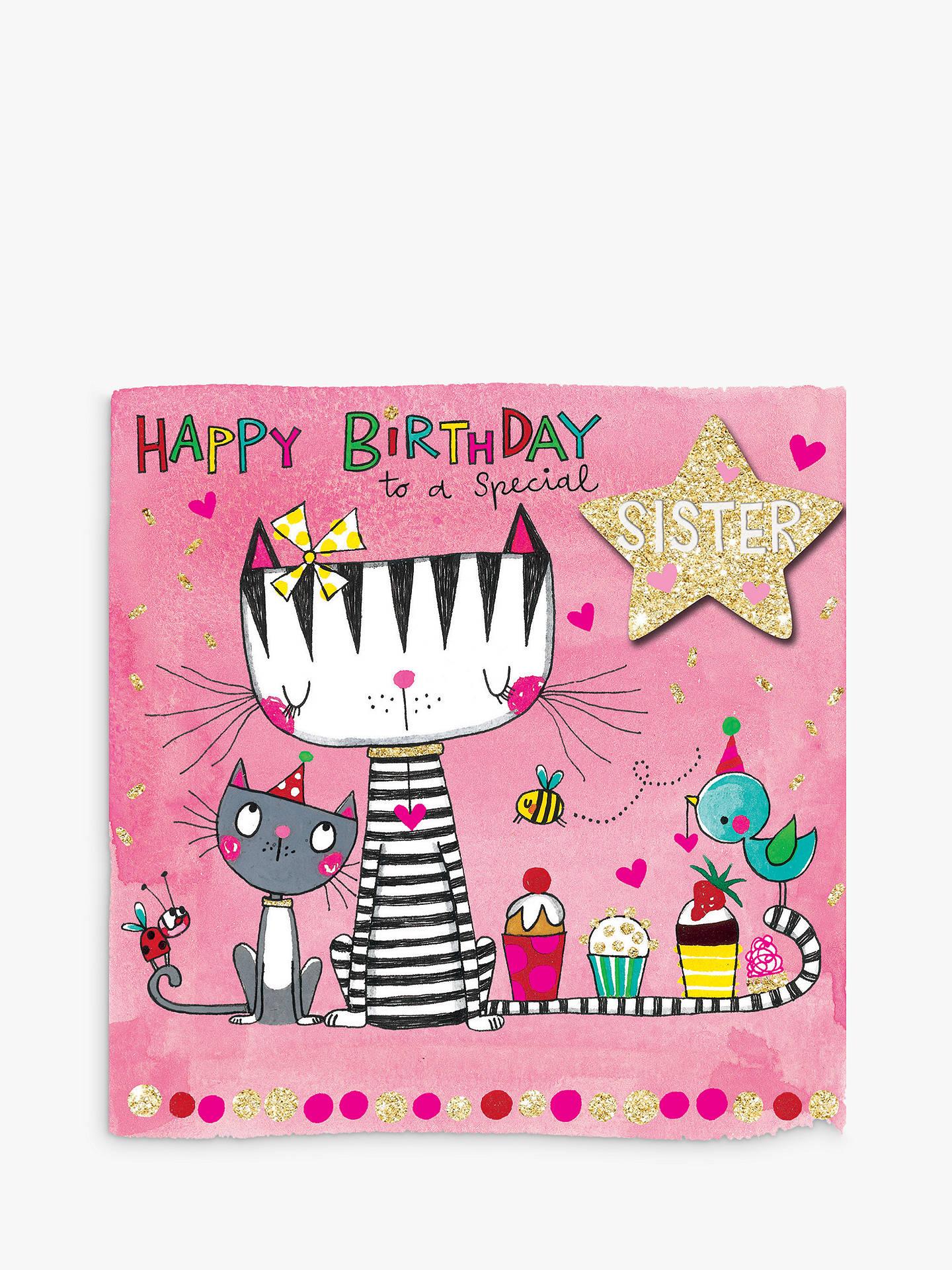 Buy Rachel Ellen Scribbles Special Sister Cats Cupcakes Birthday Card Online At Johnlewis