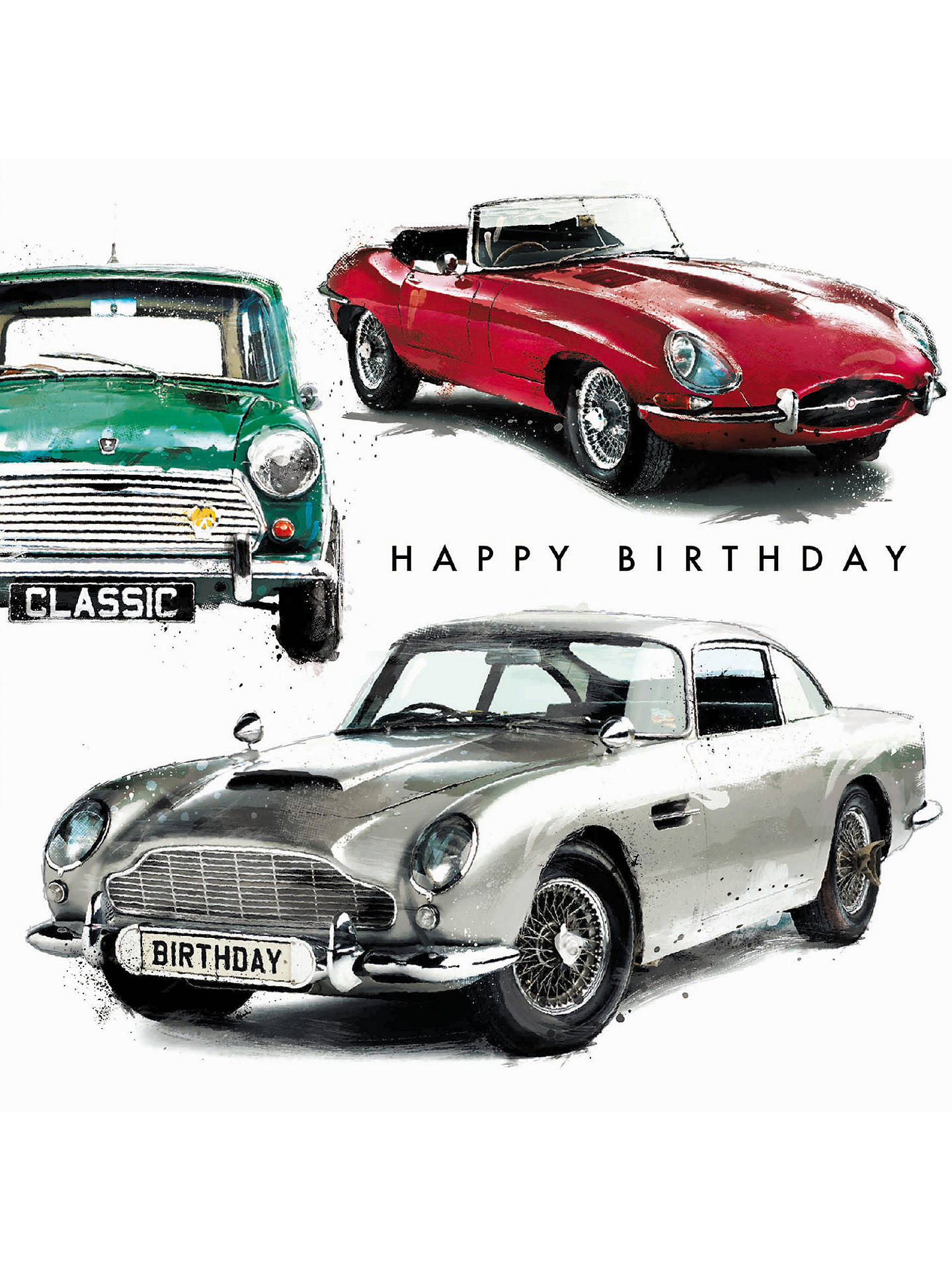 Buy Cardmix Cars Birthday Card Online At Johnlewis