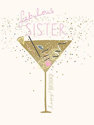 Woodmansterne Fabulous Sister Birthday Card