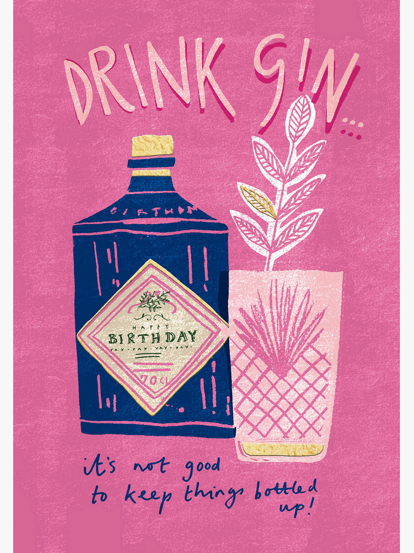 Buy Cardmix Gin Is Your Friend Birthday Card Online At Johnlewis