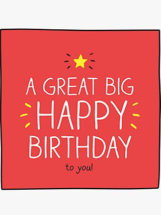 Pigment A Great Big Happy Birthday Card
