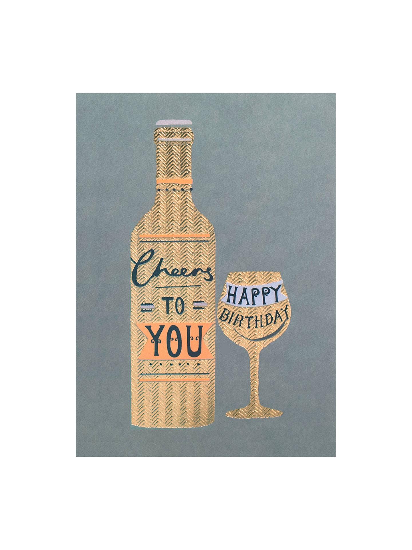 Louise Tiler Happy Birthday Cheers Greeting Card At John Lewis