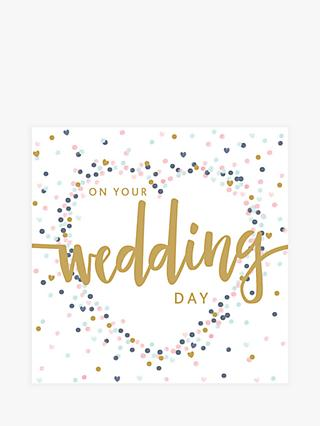Art File On Your Wedding Day Card