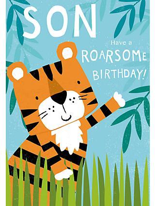 Cardmix Roarsome Son Birthday Card