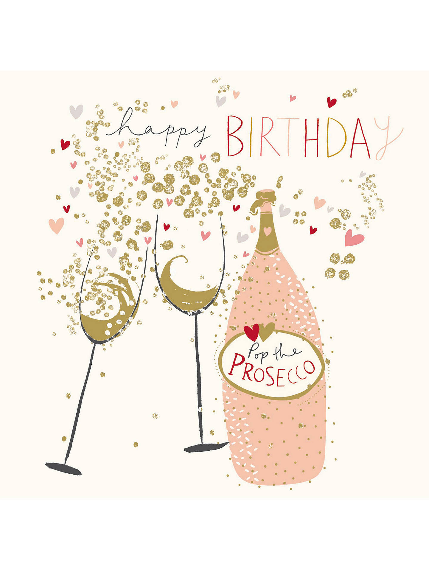 woodmansterne prosecco queen birthday card at john lewis