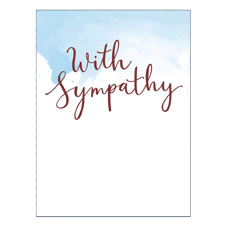 Uk Greetings Hand Lettering Sympathy Card At John Lewis