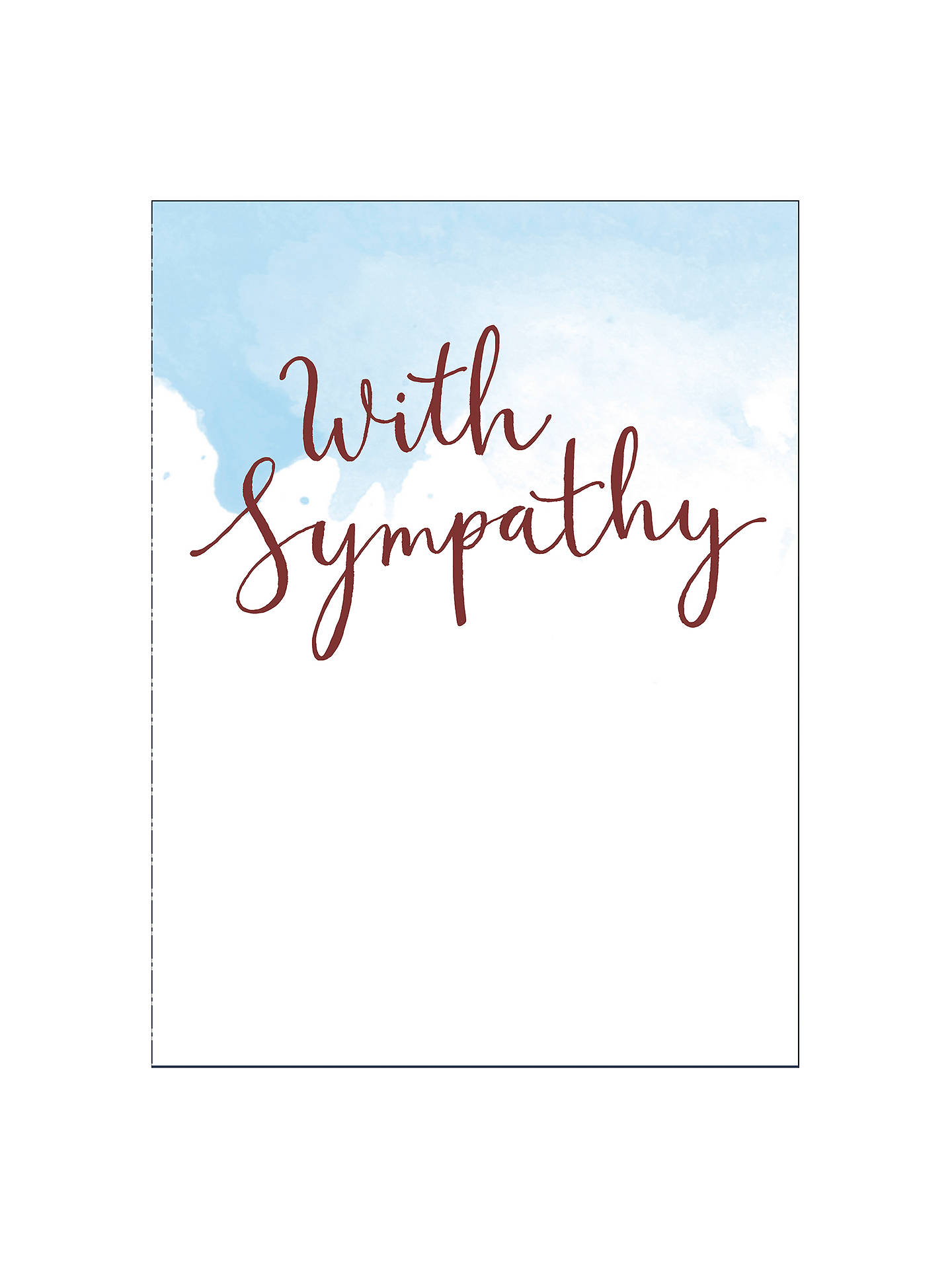 Uk Greetings Hand Lettering Sympathy Card At John Lewis Partners