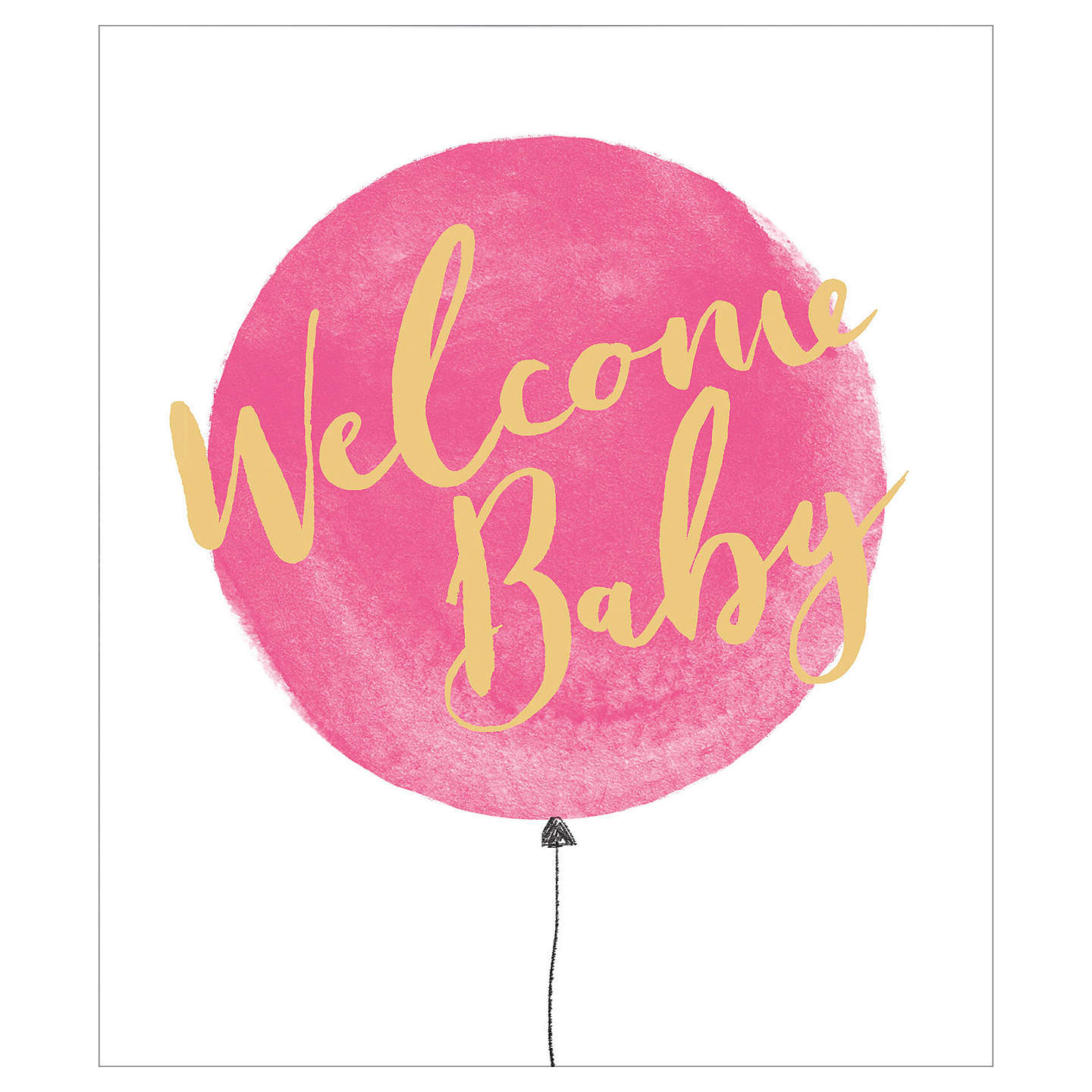 Uk greetings welcome new baby girl card at john lewis buyuk greetings welcome new baby girl card online at johnlewis m4hsunfo