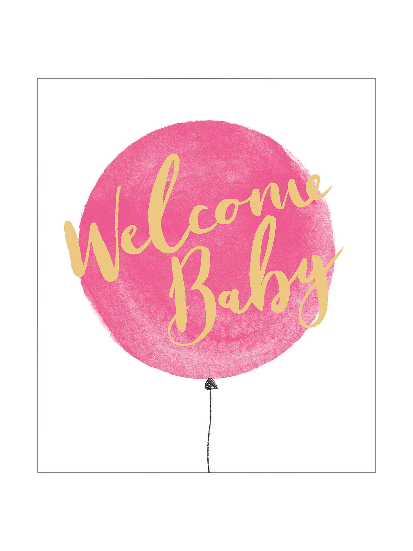 Welcome Baby Girl Card-7673