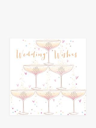 Bellybutton Bubble Wedding Wishes Glasses Card