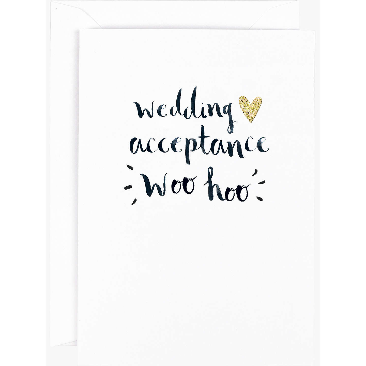 Hotchpotch Wedding Acceptance Greeting Card At John Lewis