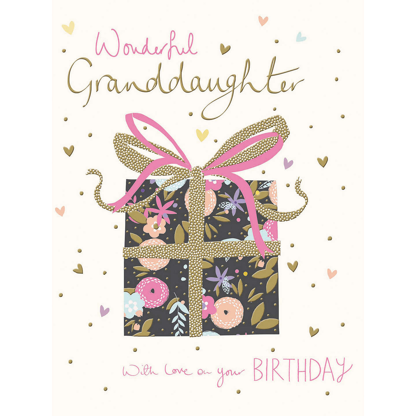 Woodmansterne wonderful granddaughter birthday card at john lewis buywoodmansterne wonderful granddaughter birthday card online at johnlewis bookmarktalkfo Gallery