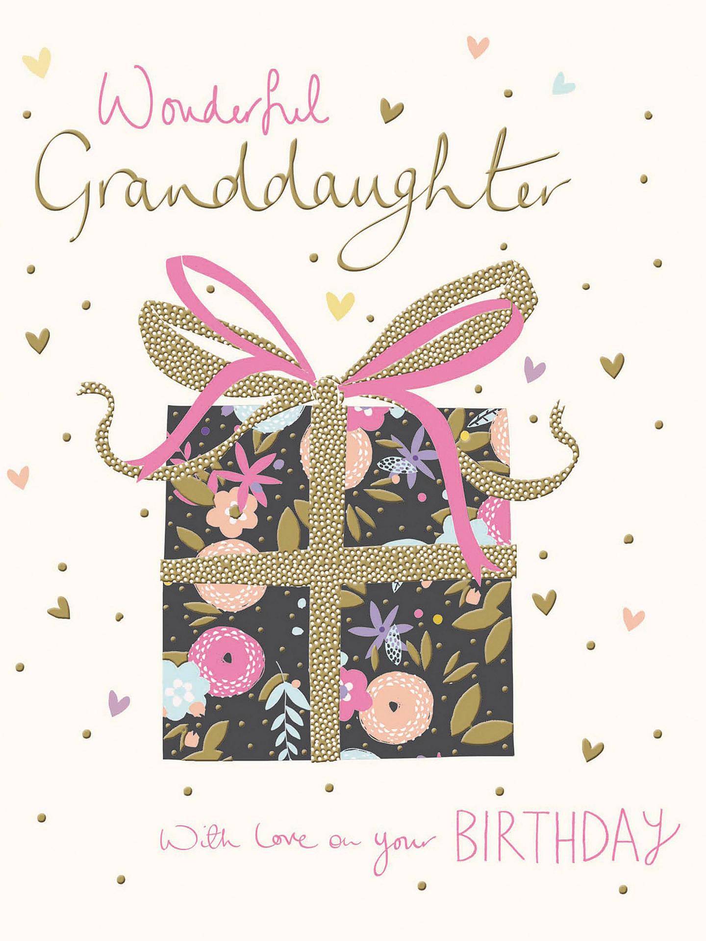 Buy Woodmansterne Wonderful Granddaughter Birthday Card Online At Johnlewis