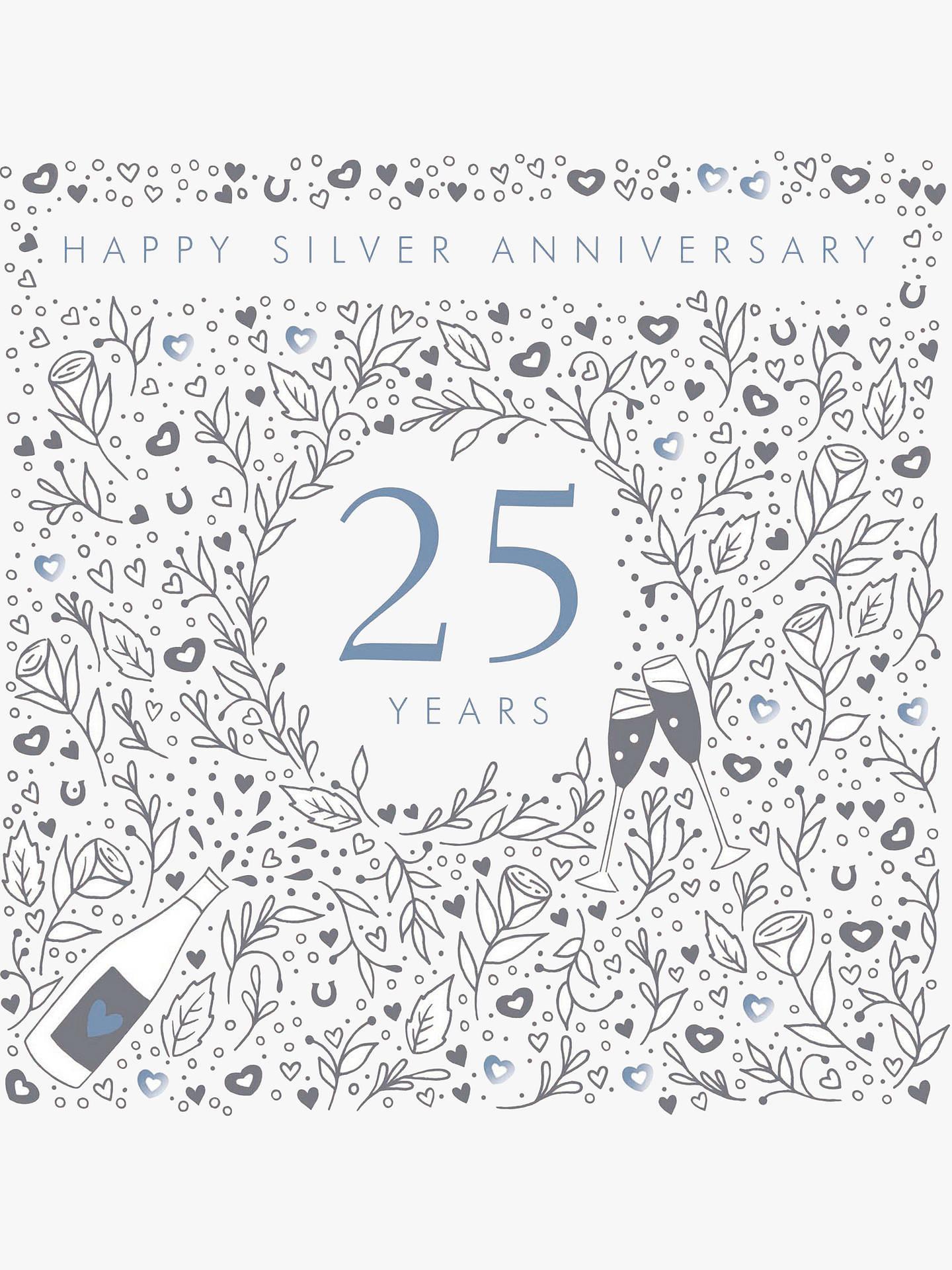 Woodmansterne 25th Silver Wedding Anniversary Card Online At Johnlewis