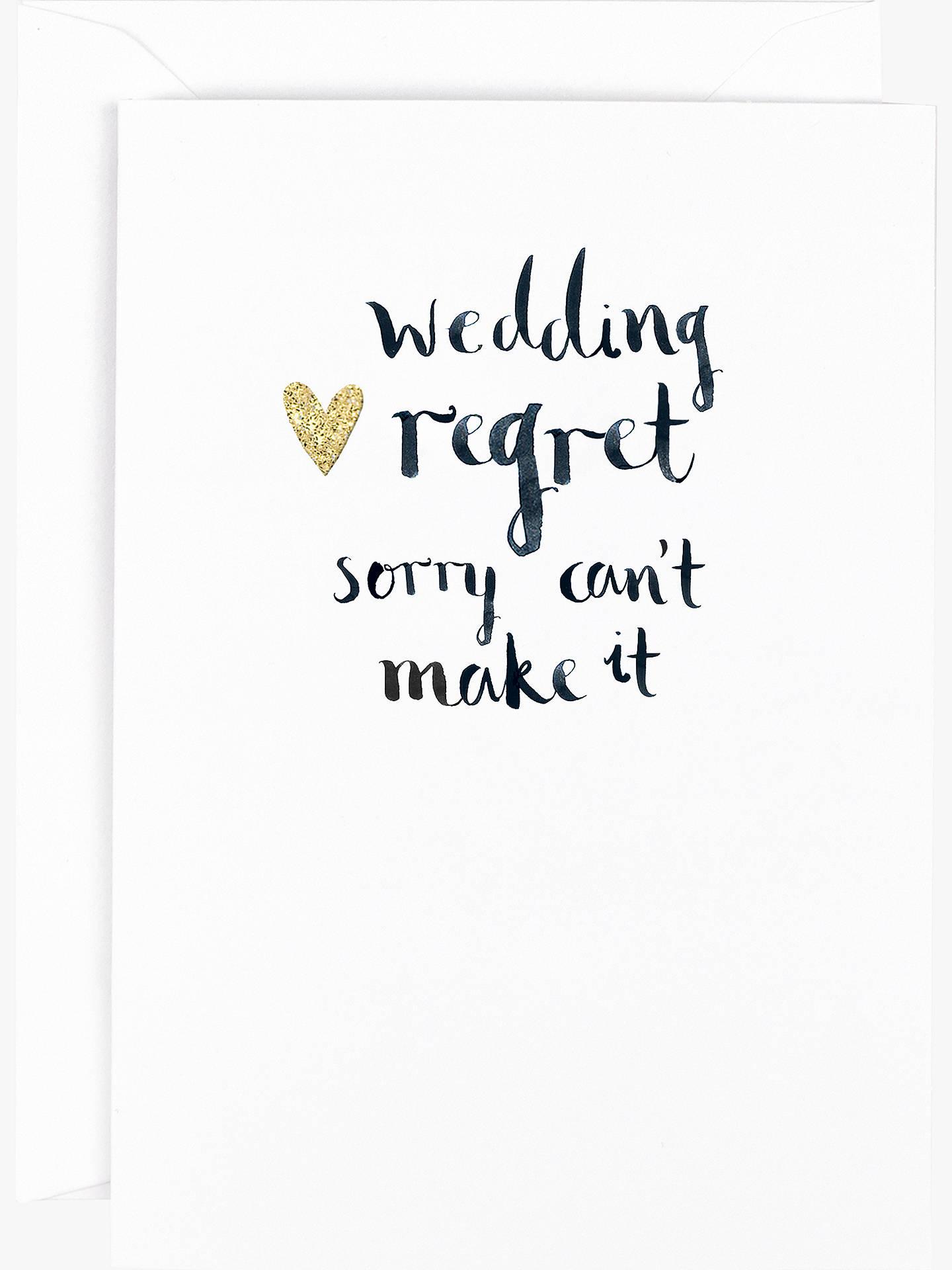 hotchpotch wedding regret greeting card at john lewis partners