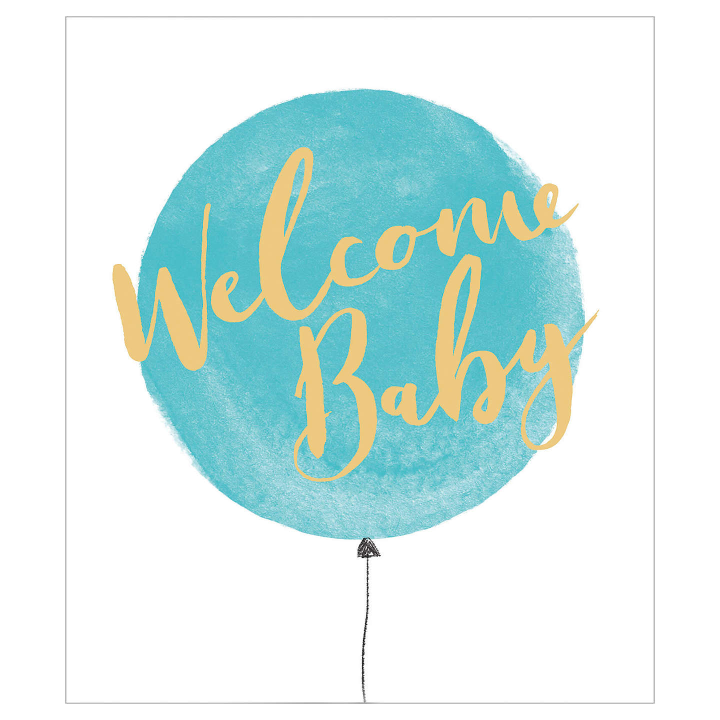 Uk greetings welcome new baby boy card at john lewis buyuk greetings welcome new baby boy card online at johnlewis m4hsunfo