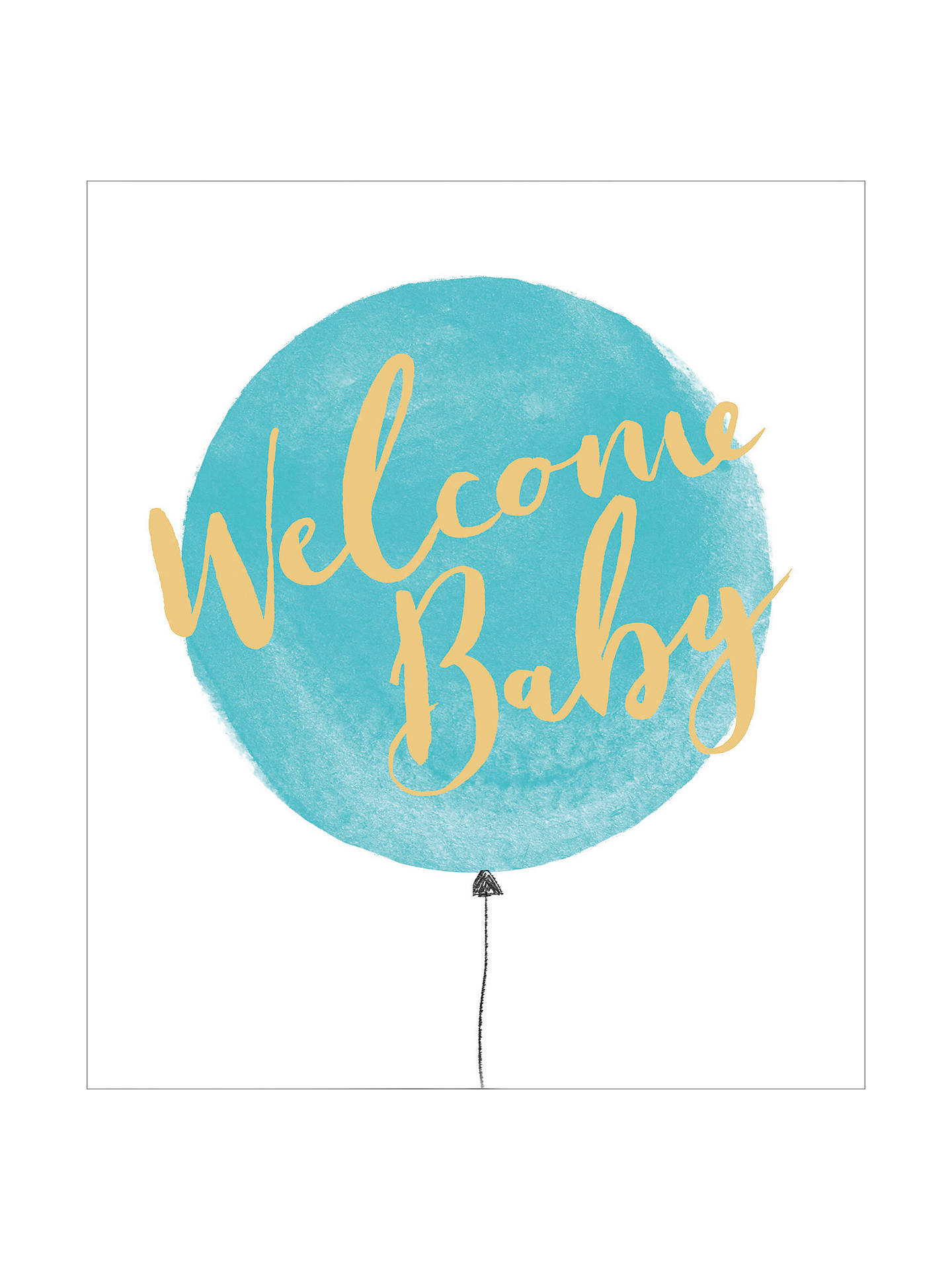 uk greetings welcome new baby boy card at john lewis partners