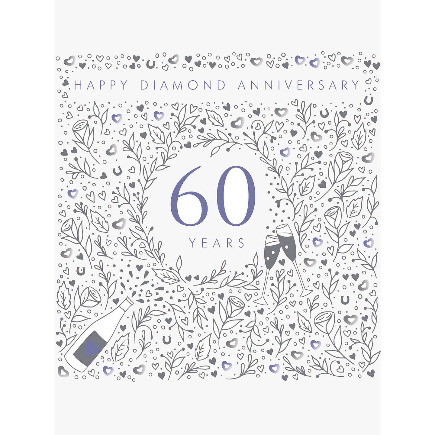 Woodmansterne 60th diamond wedding anniversary card at john lewis buywoodmansterne 60th diamond wedding anniversary card online at johnlewis kristyandbryce Choice Image