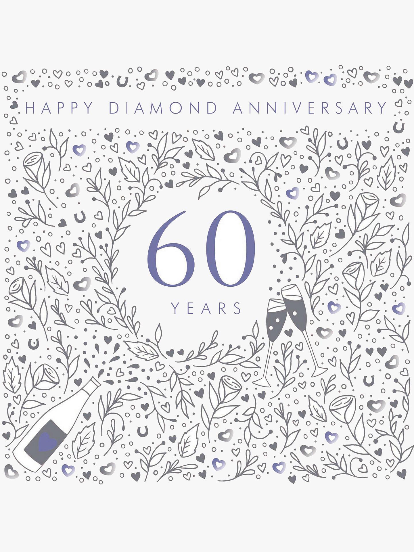 Woodmansterne 60th Diamond Wedding Anniversary Card at