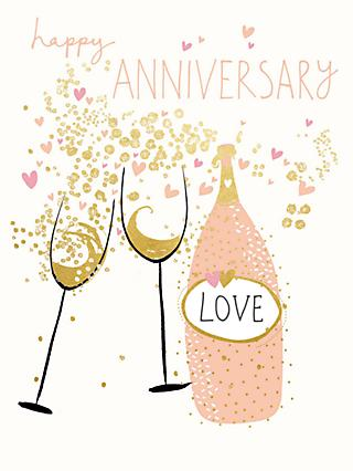 Anniversary greetings cards john lewis partners woodmansterne raise a glass anniversary card m4hsunfo