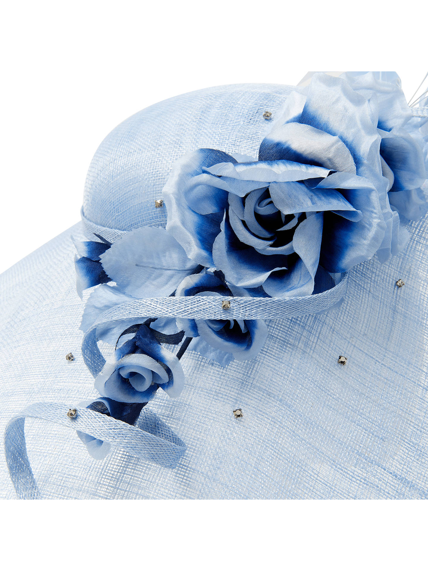 Buy John Lewis & Partners Elena Floral Down Brim Disc Occasion Hat, Bluebell Online at johnlewis.com