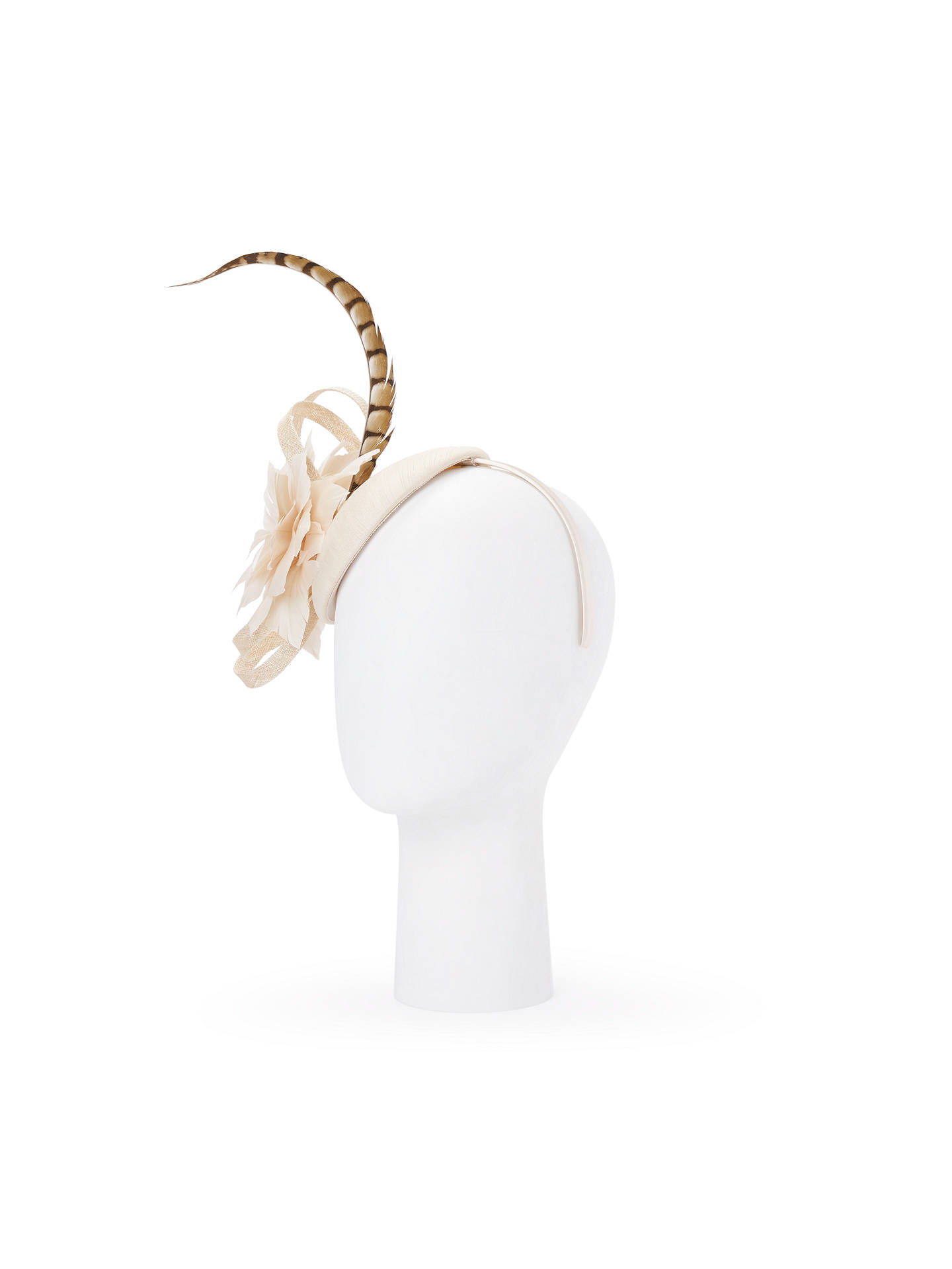 afeb35e1ba8c1 John Lewis   Partners Gloria Shantung Pillbox Fascinator at John ...
