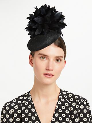 John Lewis Partners Mavis Pillbox Fascinator Black