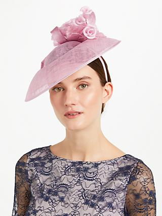 John Lewis Partners Ruth Rose Crown Disc Occasion Hat