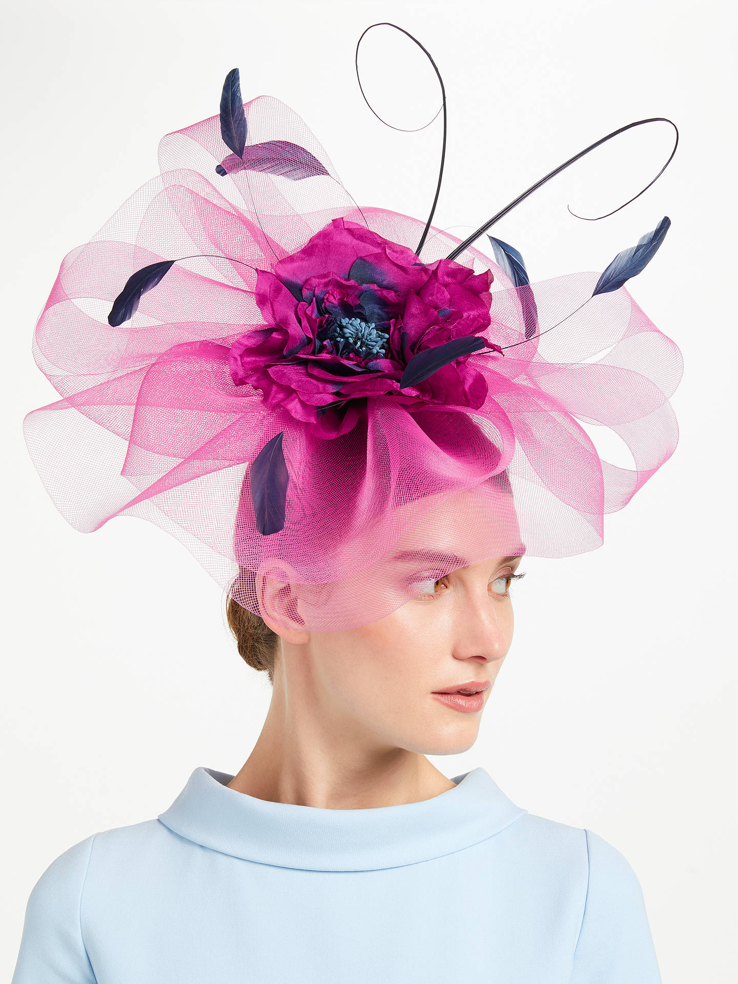 33159c133aa1f Buy John Lewis   Partners Zena Large Crin Fascinator