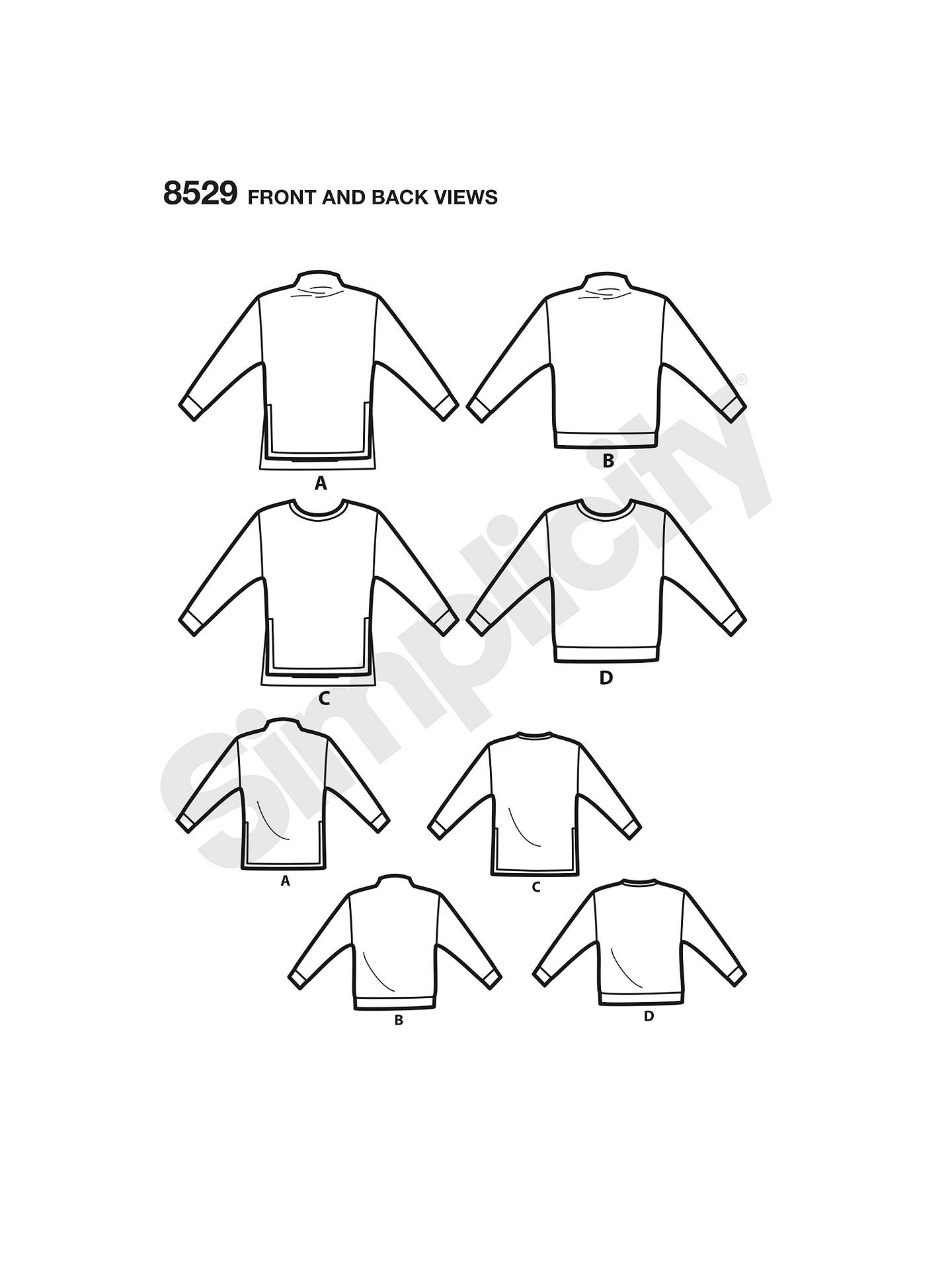 Simplicity Misses Women\'s Sweater Sewing Pattern, 8529, A at John ...