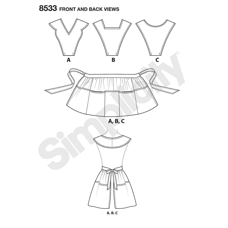 Simplicity Misses\' Women\'s 1950s Vintage Apron Sewing Pattern, 8533 ...