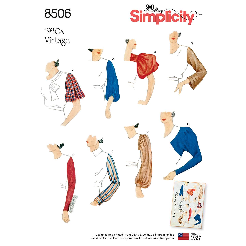Simplicity Misses 1930s Vintage Sewing Pattern, 8506 at John Lewis